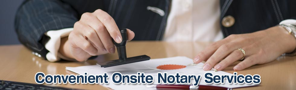 Onsite Notary Services